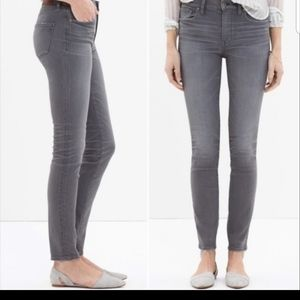 Madewell High Riser Skinny Jeans Grey 26